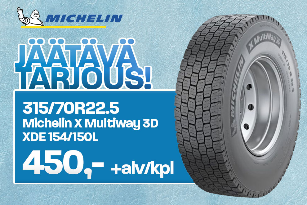 315/70R22.5 Michelin X Multiway 3D XDE